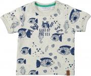 T-Shirt Korte Mouw Fish Light Grey