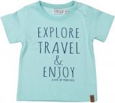 T-Shirt Korte Mouw Explore Aqua