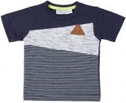 T-Shirt Korte Mouw Stripe Navy