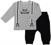 2-Delige Set Stripe Black