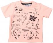 T-Shirt Korte Mouw Neon Peach