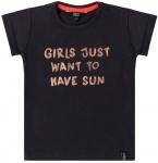 T-Shirt Korte Mouw Sun Black