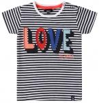 T-Shirt Korte Mouw Love Stripes