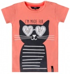 T-Shirt Korte Mouw Cat Coral