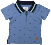 Polo Korte Mouw Denim Blue