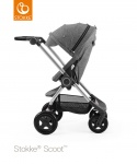 Stokke® Scoot™ Black Melange Seat Leatherette Handle