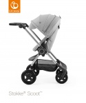 Stokke® Scoot™ Grey Melange Seat Leatherette Handle