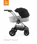 Stokke® Scoot™ Grey Melange Seat Leatherette Handle Combi