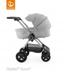Stokke® Scoot™ Grey Melange Seat Leatherette Handle Combi