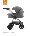 Stokke® Scoot™ Black Melange Seat Leatherette Handle Combi