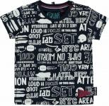 T-Shirt Ricardo Korte Mouw White Text