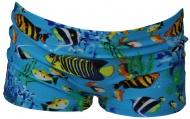 Zwembroek Fish Blue