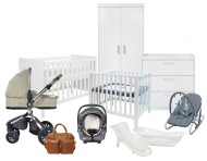 Combideal Complete Baby-Uitzet Kamer Ralph + Kinderwagen Q-Moon + Joie Gemm + Box Timo + Bad en Badzitje Pretura + Sitter Qute