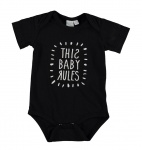 Romper Baby Rules Black