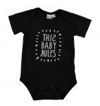 Romper Baby Rules Black