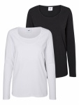 Mamalicious Top Lea Nell / Lea Nell Organic Black/White