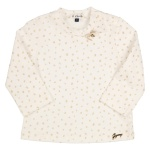 T-Shirt Dot Offwhite Gold