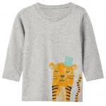 T-Shirt Len Grey Melange