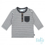 T-Shirt Mini Person Streep Antraciet