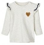 T-Shirt Turid Light Grey Melange
