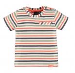 T-Shirt Korte Mouw Stripe Multicolor