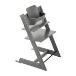 Stokke® Tripp Trapp® Storm Grey  + Classic Cushion Geometric Red Incl. Baby Set Storm Grey PROMOTIE