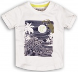 T-Shirt Korte Mouw Wave White