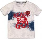 T-Shirt Korte Mouw Ready White Melee