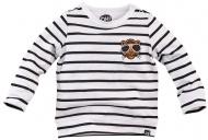 T-Shirt Stockholm Black White Stripe