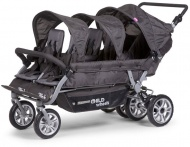 Childhome Six Seater Wandelwagen Anthracite met rem +Rc+Sc