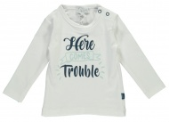 T-Shirt Trouble White