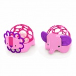 Oball Rollie Rattles Pink