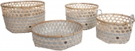 Handed By Bamboo Basket Set Flint Grey