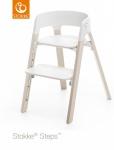 Stokke® Steps™ Chair Seat White Legs Beech Wood White Wash