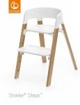 Stokke® Steps™ Chair Seat White Legs Oak Wood Natural