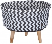 Handed By Up Low Round Basket White/D.Grey