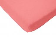 Hoeslaken Jersey Coral Pink 60 x 120 cm