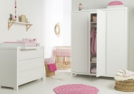 Pericles Ledikant 60-120 Inclusief 1-Persoonsbed / Commode 3 Laden Monaco Wit