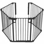 Noma 5 Panel Gate Zwart (315 cm)