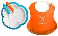 Baby Björn® Serviesset Oranje/Turquoise