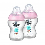 Tommee Tippee Closer To Nature Fles 260ml Roze (2 stuks)
