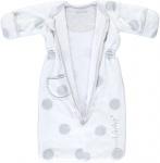 Puckababy Bag Newborn Teddy White 0-6 mnd