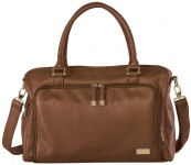 Isoki Double Zip Satchel Bag Redwood