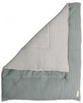 Koeka Boxkleed Wafel Amsterdam Sapphire/Silver Grey 80 x 100 cm