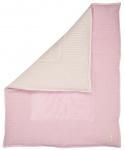 Koeka Boxkleed Wafel Amsterdam Old Baby Pink/Pebble 80x100cm