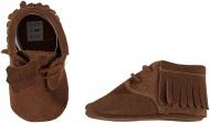 XQ Little Shoes Schoentje Fringe Cognac