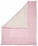 Koeka Boxkleed Wafel Amsterdam Old Baby Pink/Pebble 75 x 95 cm