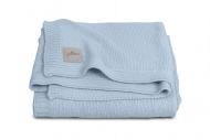 Jollein Deken Zomer Soft Knit Soft Blue 100 x 150 cm