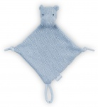 Jollein Knuffeldoek Soft Knit Hippo Soft Blue