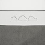 Meyco Laken Little Clouds Grijs  75 x 100 cm